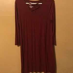 24/7 by Maurices Burgundy Dress Medium